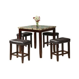 Krol 5 Piece Counter Height Dining Set by Charlton Home