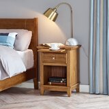 Jalinqua 1 - Drawer Solid Wood Nightstand