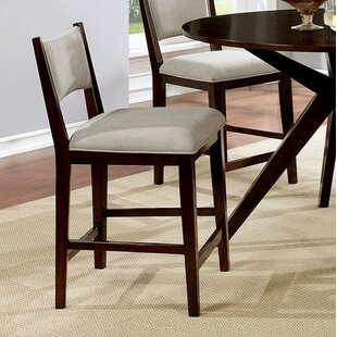 Kauffman Counter Height Upholstered Dining Chair (Set of 2) Brayden Studio