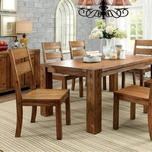 Whitham Transitional Solid Wood Dining Table Loon Peak