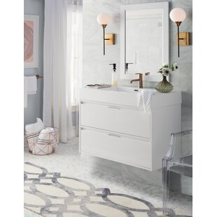 Read Reviews Daniella 35 Single Bathroom Vanity Set with Mirror ByWyndham Collection