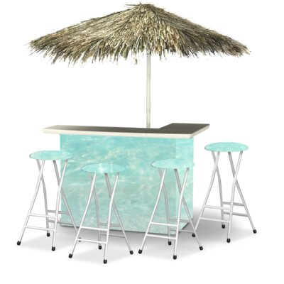 Wakefield 9 Piece Patio Bar Set by Bayou Breeze Great price