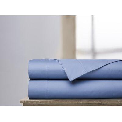600 Thread Count 100% Cotton Sheet Set Ardor Home Color: Coastal Blue, Size: King