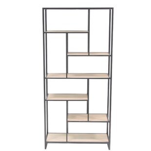 Modern Multi-Tiered Rectangular 64 Etagere Bookcase