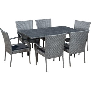 grey patio dining chairs. 7-piece minerva patio dining set grey chairs i