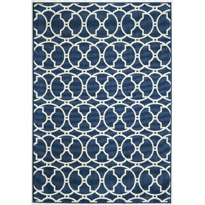 Halliday Traditional Navy Indoor/Outdoor Area Rug