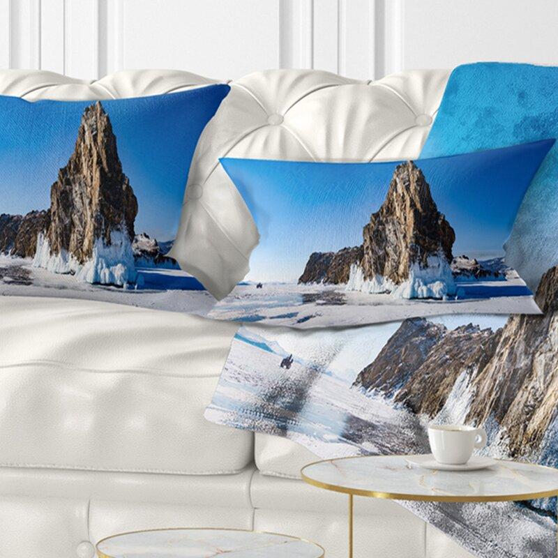 East Urban Home Seashore Winter Lake Baikal Panorama Lumbar Pillow Wayfair