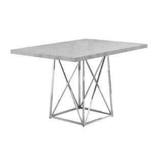 Damia Metal Dining Table by Latitude Run Herry Up