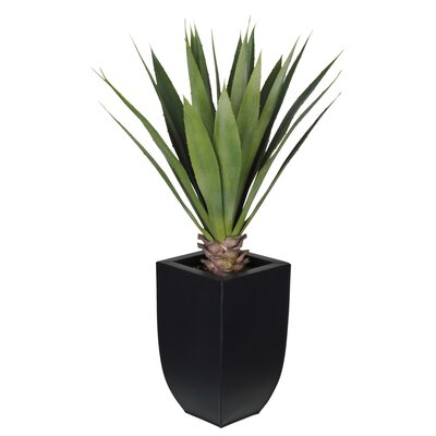 Artificial Tabletop Yucca Plant in Zinc Vase House of Silk Flowers Inc.