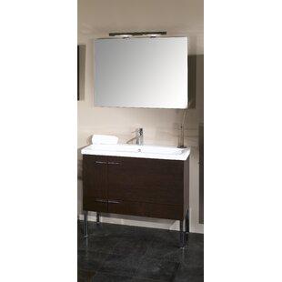 Simple 39 Single Wall Mounted Bathroom Vanity Set with Mirror
