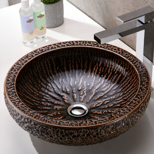 Great Price Regalia Glass Circular Vessel Bathroom Sink By ANZZI