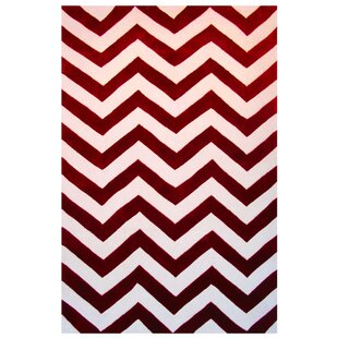 Affordable Capri Red/White Area Rug ByL.A. Rugs