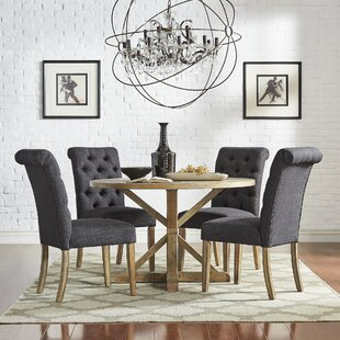 Peralta Rustic X-Base 5 Piece Dining Set
