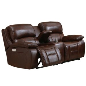 Westminster II Leather Reclining Loveseat by HYDELINE BY AMAX