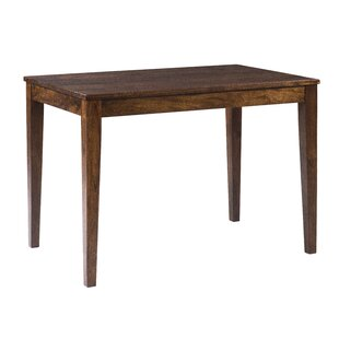 Gambino Rustic Counter Height Solid Wood Dining Table Bloomsbury Market