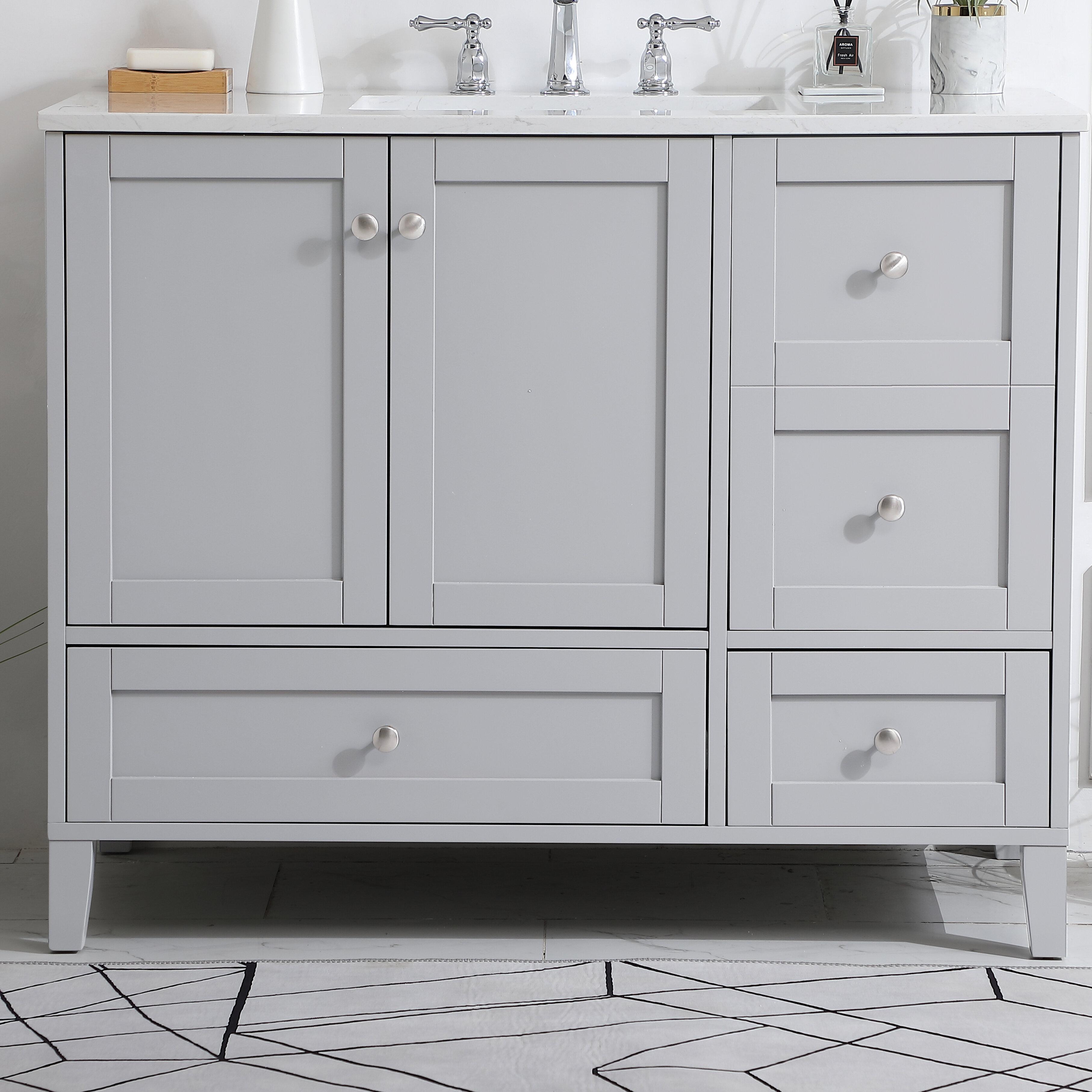 Beachcrest Home Araminta 42 Single Bathroom Vanity Set Reviews Wayfair