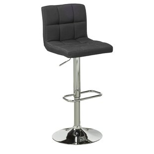 Elmira Adjustable Height Swivel Bar Stool (Set of 2) by Brassex