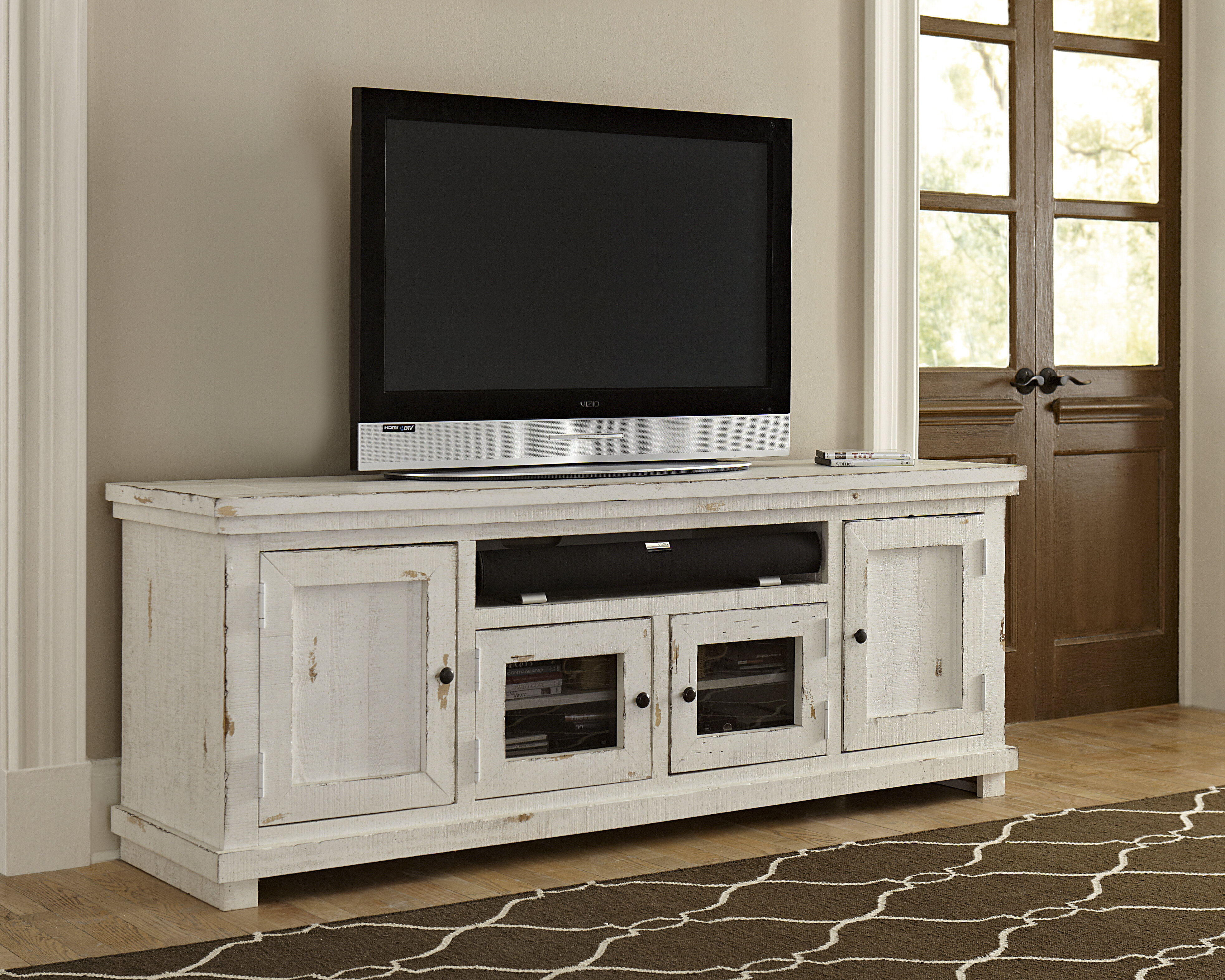 Pineland Tv Stand For Tvs Up To 85 Reviews Joss Main