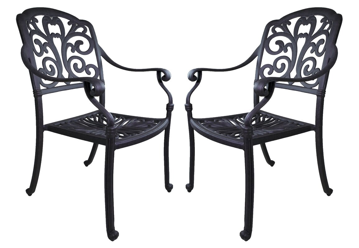 Roma Patio Dining Chair With Cushion Set Of 2 By