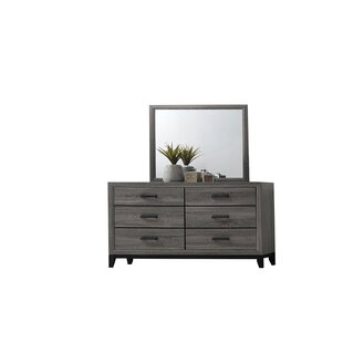 Webster 6 Drawer Double Dresser with Mirror