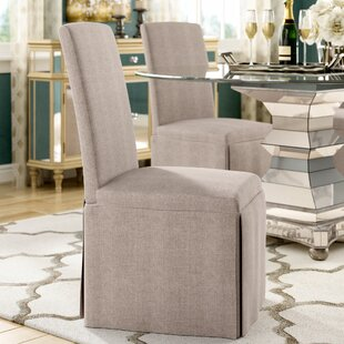 Lamb Upholstered Dining Chair (Set of 2) Willa Arlo Interiors