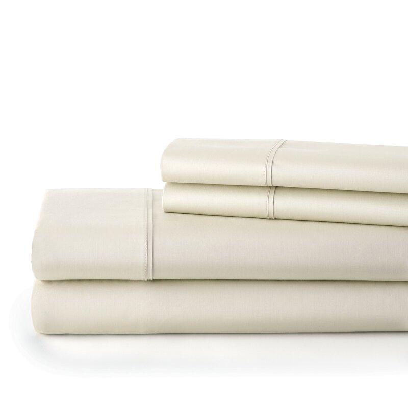 Souths Fine Linens 300 Thread Count 100 Cotton Extra Deep Pocket Sheet Set Reviews Wayfair