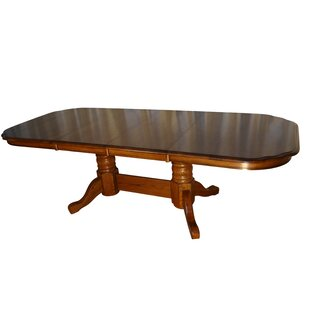 Templepatrick Solid Oak Extendable Solid Wood Dining Table DarHome Co