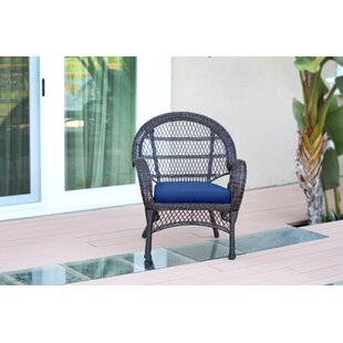Wicker Armchair Chair with Cushions (Set of 4)