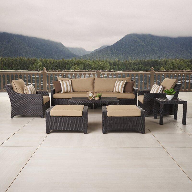 Default nameThree Posts Northridge 8 Piece Deep Seating Group with Cushions  . Patio Furniture Cushions Deep Seating. Home Design Ideas