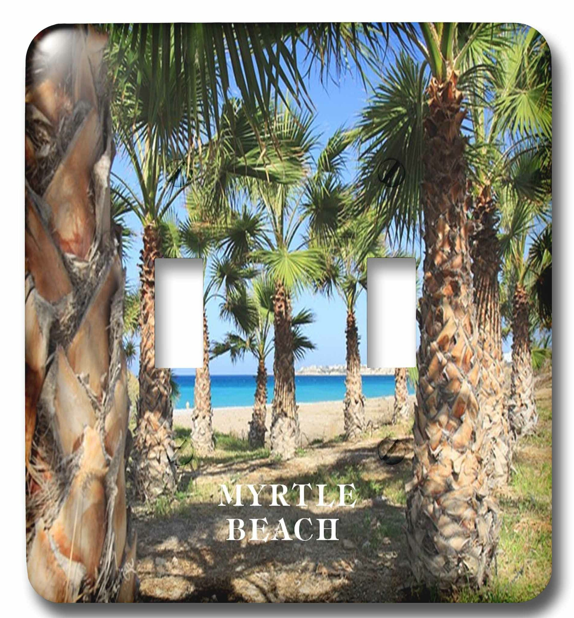 3drose Palms Line Myrtle Beach South Carolina 2 Gang Toggle Light Switch Wall Plate Wayfair
