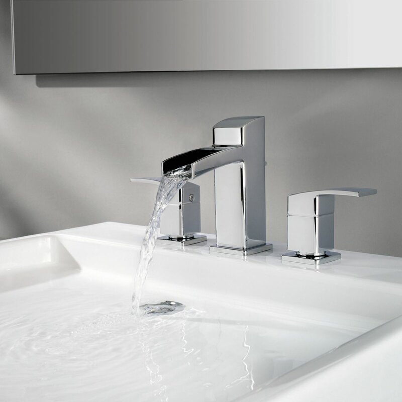 Waterfall Faucets For Bathroom Sinks. Kenzo Widespread Waterfall Faucet