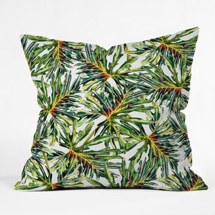 Marta Barragan Camarasa Palm Leaves Paradise Indoor Outdoor Throw Pillow