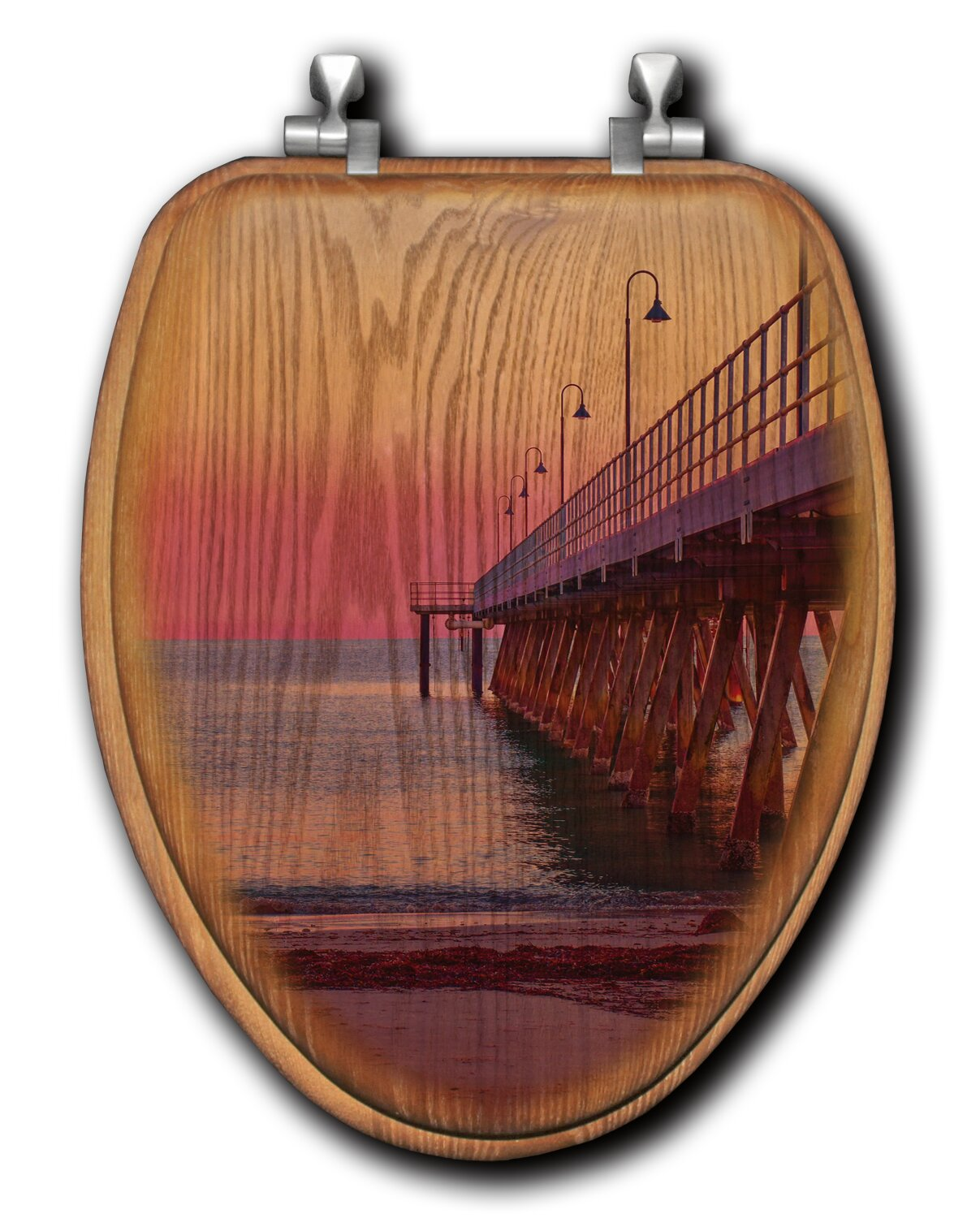 Wgi Gallery Pink Jetty Oak Elongated Toilet Seat Wayfair