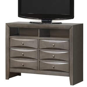 Latitude Run Medford 6 Drawer Media Chest