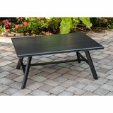 Beatty All-Weather Commercial-Grade Aluminum Slat-Top Coffee Table