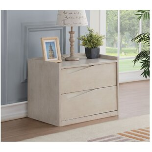 Aaryanna 2  Drawer Nightstand in Beige