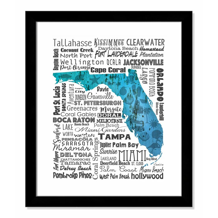 'State Your Name Florida' Framed Textual Art on sterling florida map, st charles florida map, decatur florida map, deep creek florida map, huntington florida map, rosemont florida map, barrington florida map, kissimmee florida map, troy florida map, stonecrest florida map, long lake florida map, rockland florida map, lincoln florida map, countryside florida map, sea breeze florida map, janesville florida map, briarwood florida map, bennington florida map, boca raton florida map, haverhill florida map,