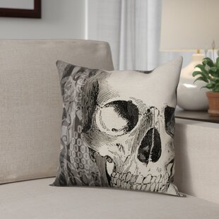 Skeleton's Head Throw Pillow