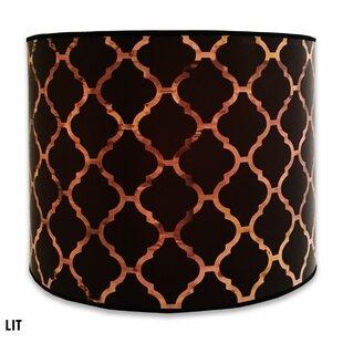 Modern Trendy 10 Paper Drum Lamp Shade