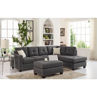 Menendez Reversible Sectional with Ottoman
