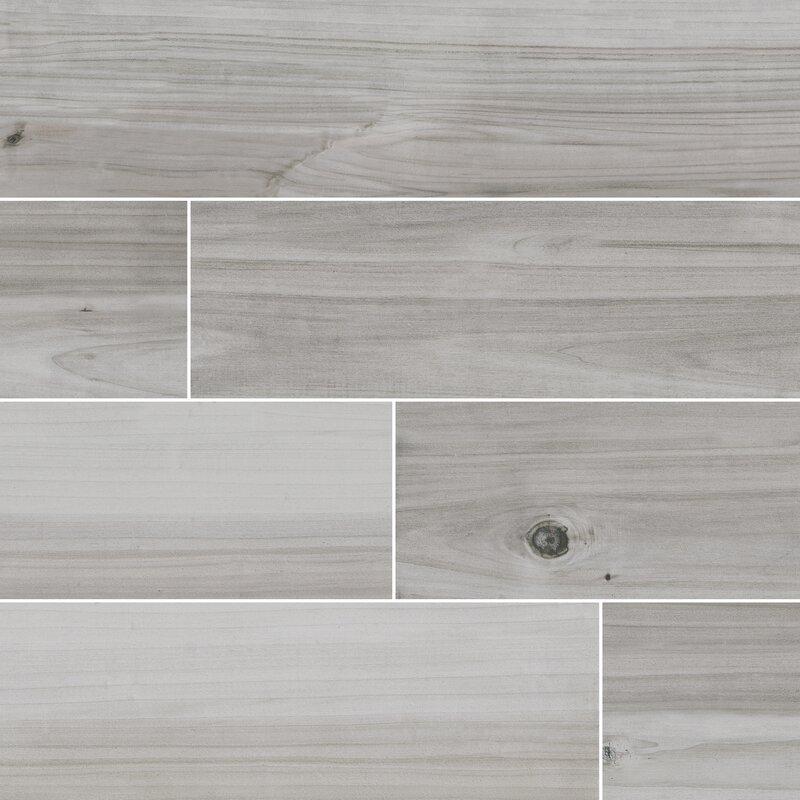 Havenwood Platinum 8 X 36 Porcelain Wood Look Tile