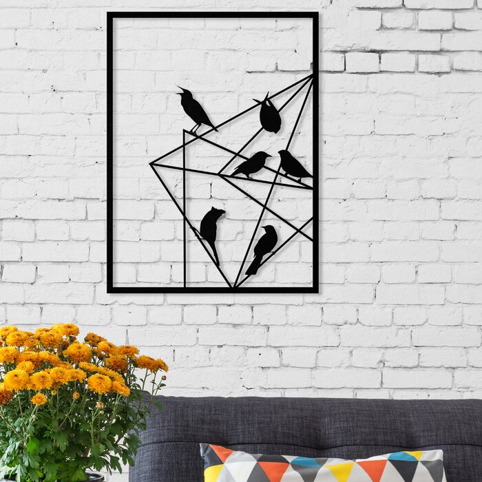 Geo Birds Modern Metal Wall Decor