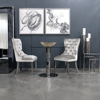 Alpena Upholstered Dining Chair by Everly Quinn SKU:AC869043 Details