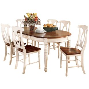 Shelburne 7 Piece Extendable Solid Wood Dining Set Laurel Foundry Modern Farmhouse