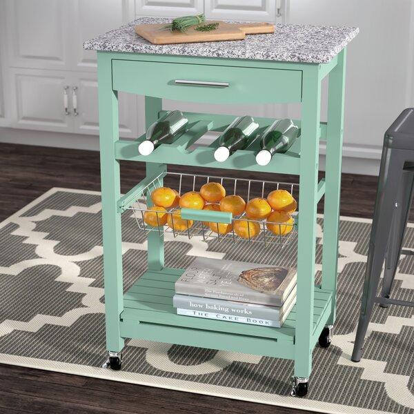 Kitchen Cart With Wine Rack Wayfair