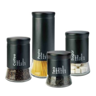 Allaire 4 Piece Kitchen Canister Set by Home Basics 2019 Online