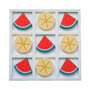 Watermelon Lemon Tic Tac Toe Game Board by Mike & Melissa