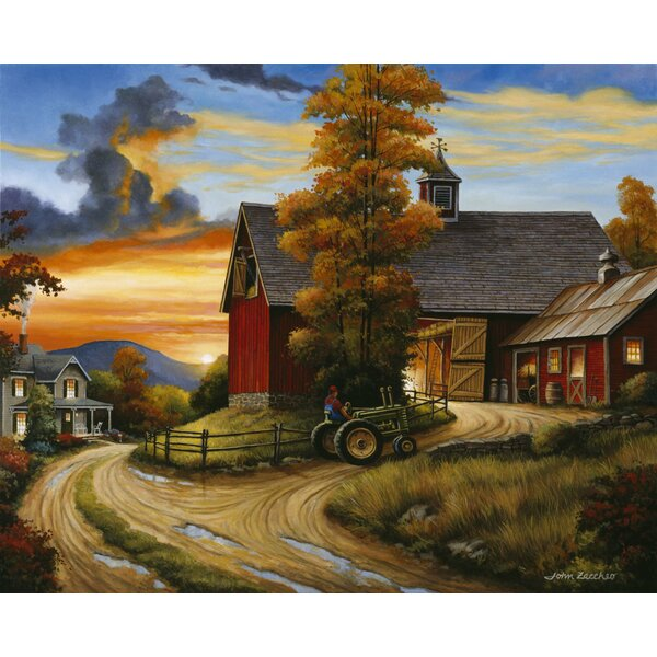August Grove Farm Scene Graphic Art Print Wayfair Ca