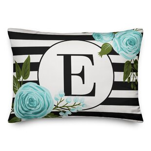 Blace Stripes Personalized Outdoor Lumbar Pillow
