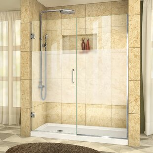 Unidoor Plus 55.5 x 72 Hinged Frameless Shower Door with Clearmax? Technology by DreamLine